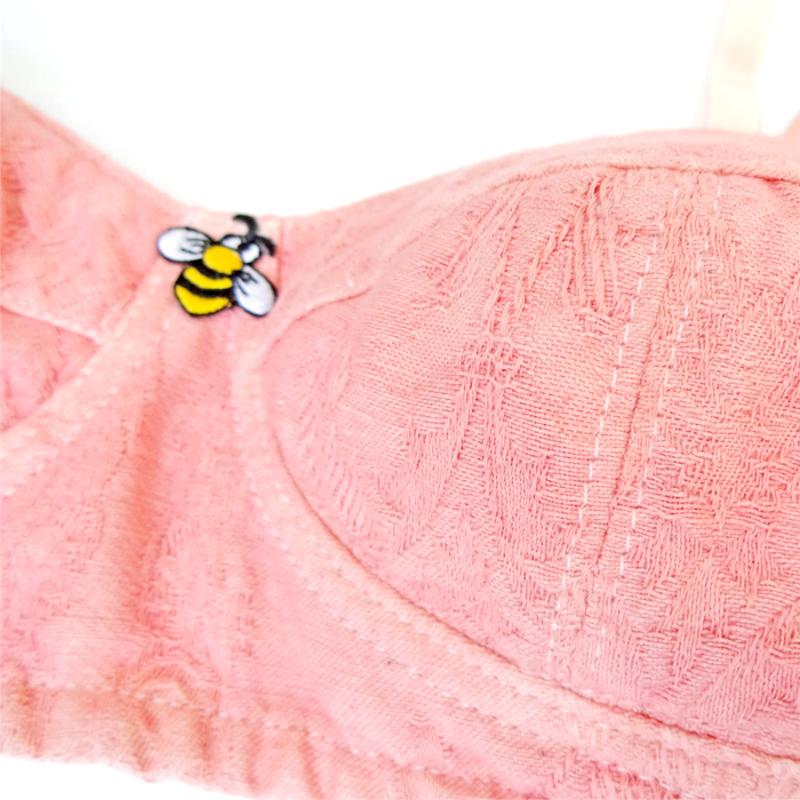 ゴシック柄オーガニックコットン×新万葉染めブラジャー Cutie Bug