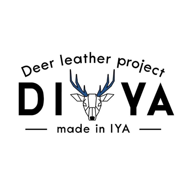7778【自由テーマ】藍染め鹿革商品 DIYA
